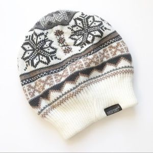 Muk Luks - Fair Isle White Printed Beanie Hat